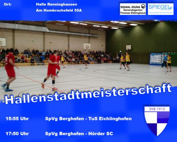 Banner Spiele-hallenstadtmeisterschaft